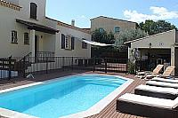 Maison 42 Marseillan Private Pool sunloungers heated villa luxury property rental holiday languedoc